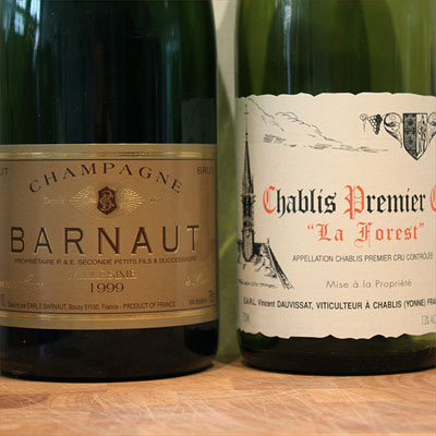 Barnaut Millsime 1999 and Dauvissat Chablis Premier Cru 'La Forest' 2004