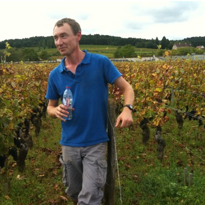 David Clark in his Brochon vineyard