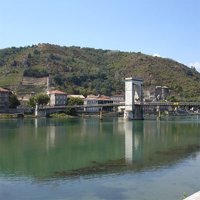 The bridge over the Rhône at Tain l'Hermitage