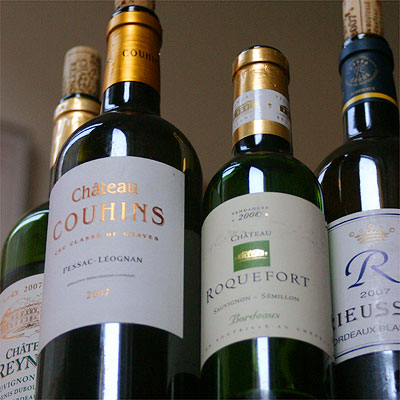 Chateau Couhins, Chateau Roquefort, R de Rieussec and Chateau Reynon