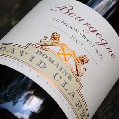 David Clark's Bourgogne rouge 2007 from the En Pelson vineyard