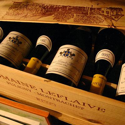 Leflaive's Bienvenues Bâtard-Montrachet still in the cellar