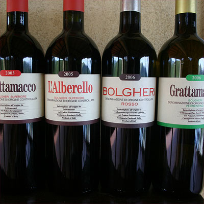 Grattamacco: the different wines