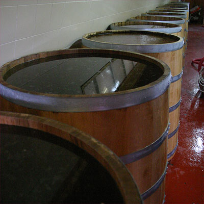Grattamacco: small fermentation vats