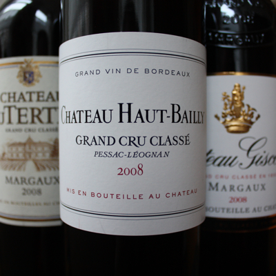 Haut-Bailly, Giscours and Du Tertre 2008