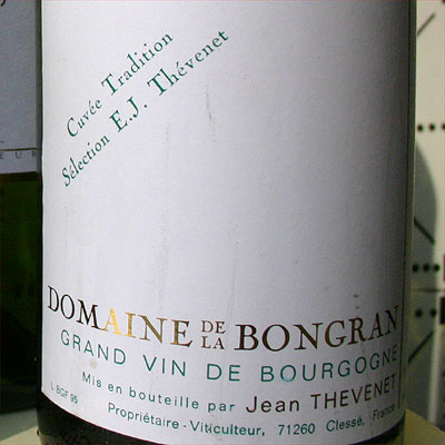 Jean Thevenet, Domaine de la Bongran 1995