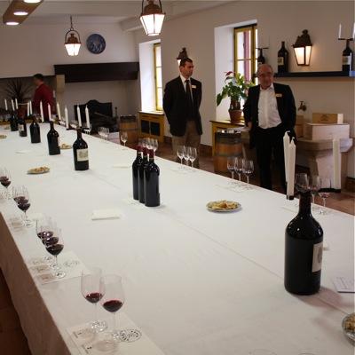 Lafite-Rothschild tasting room