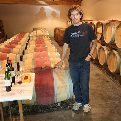 Michel Thron in the new cellar of Clos du Jaugueyron