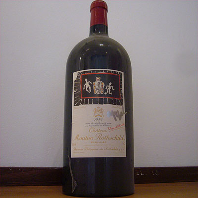 Mouton Rothschild 1994 Jeroboam signed by Karel Appel