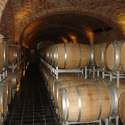 Giovanni Negro's brand new cellar