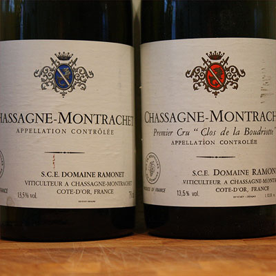Ramonet Chassagne-Montrachet white and red
