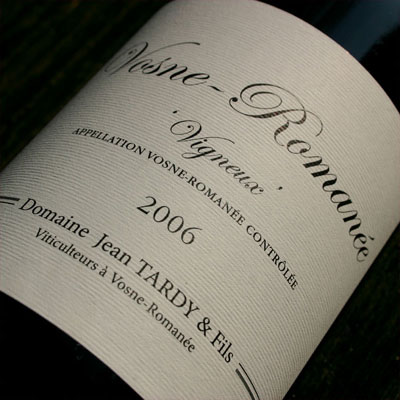 Vosne-Romane from Domaine Jean Tardy