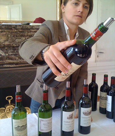 Tasting Ausone 2009 with Pauline Vauthier, daughter of Alain