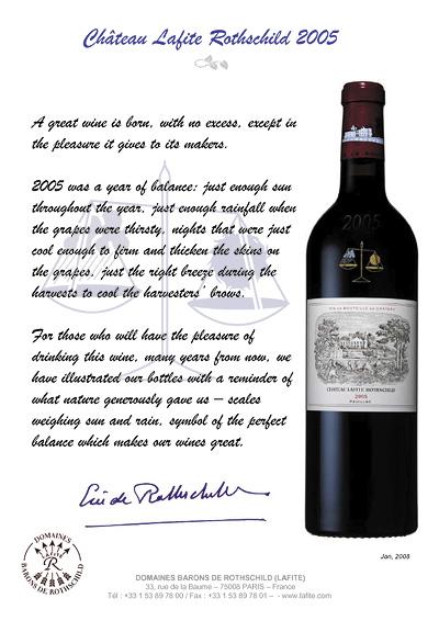 Chteau Lafite Rothschild 2005